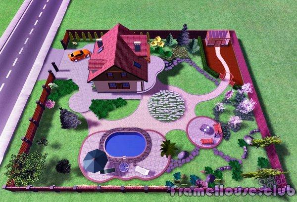 Ландшафтный дизайн участка 8 соток с домом дизайн