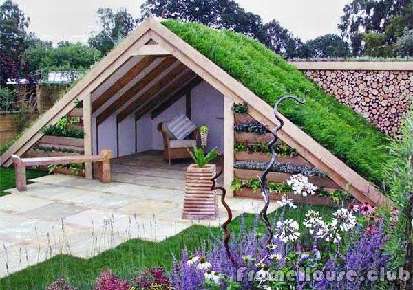 зеленые крыши в дизайне