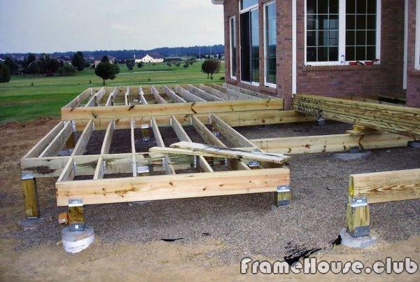 продолжаем строить нашу террасу