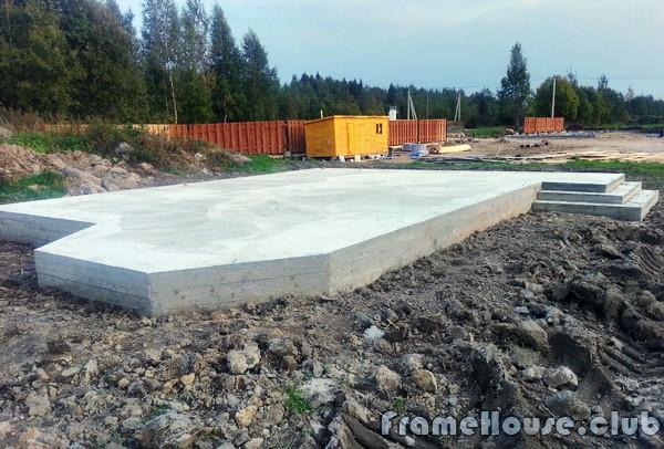 монолитный плитный фундамент для каркасного дома