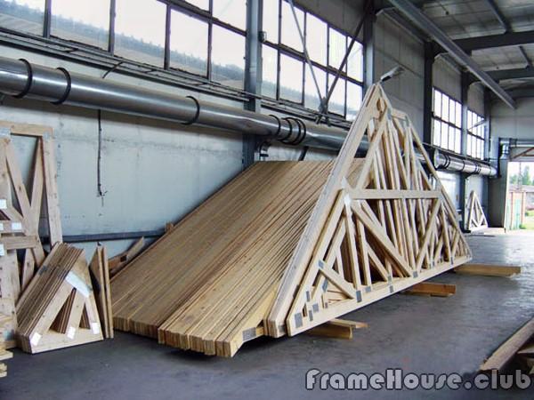заводские элементы крыши каркасного дома