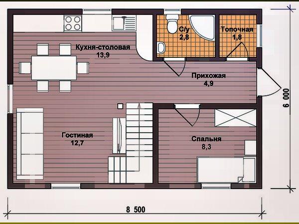 Дачные проекты каркасно-щитовых домов
