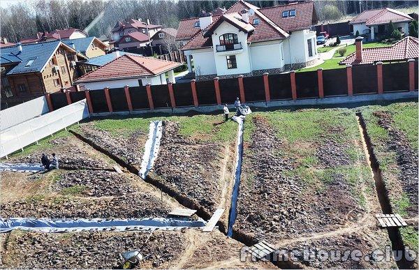 Осушить участок на даче