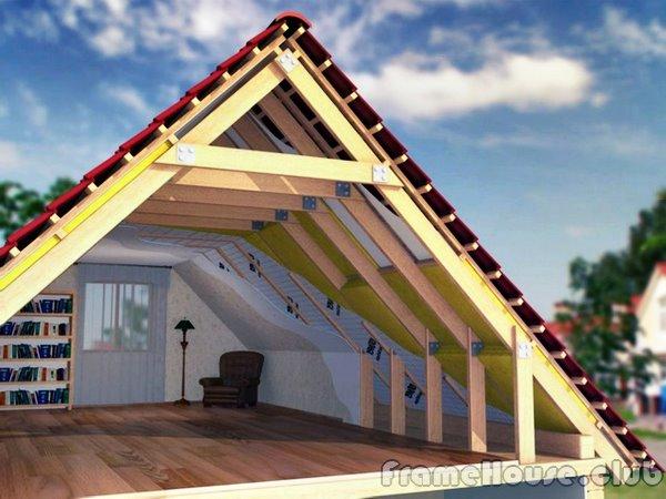 Крыша каркасного дома своими руками фото 644