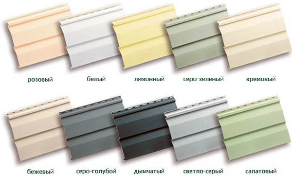 цветовая гамма сайдинга из пвх