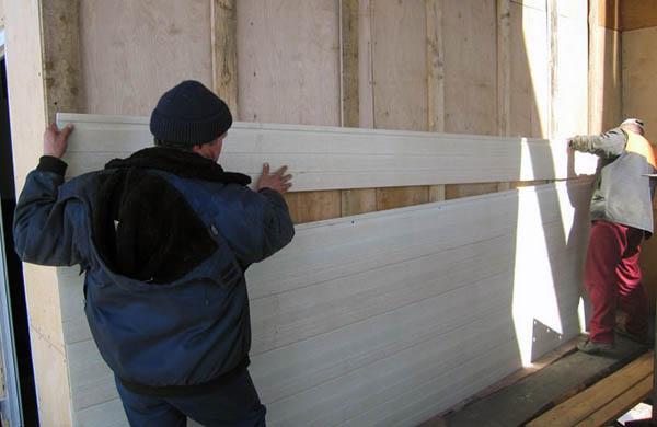 установка панелей каркасный дом