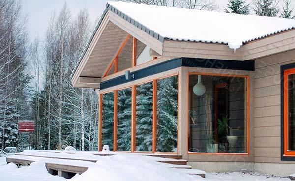 финский домик из клееного бруса