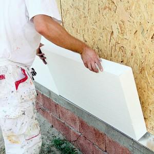 Пенопласт - Применяется для утепления фундамента, стен, фасадов, простой в применение