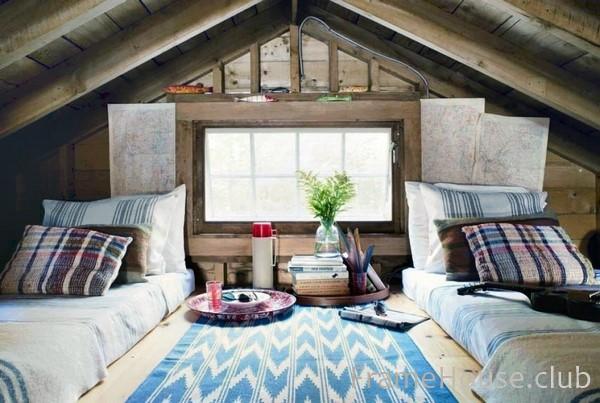 уютный интерьер дачного дома
