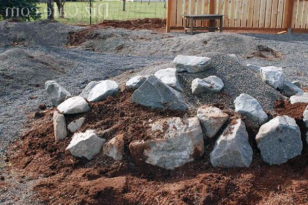 как правильно разложить камни на альпийской горке региона: