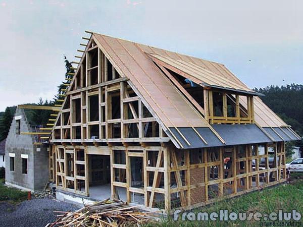 каркасный брусовой дом