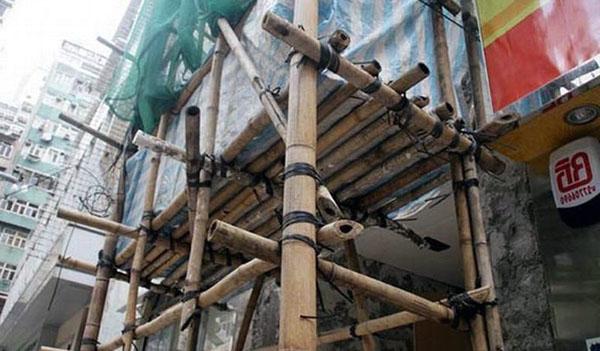 строительные леса из бамбука